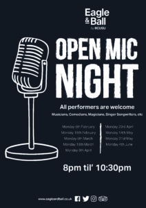 Open Mic Night @ Eagle & Ball