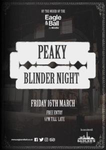 Peaky Blinder Night @ Eagle & Ball Pub